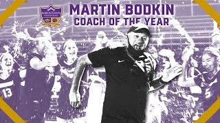 Photo of martin bodkin with coach of the year title