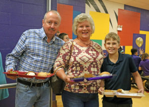 Student with Parents at special friends lunch