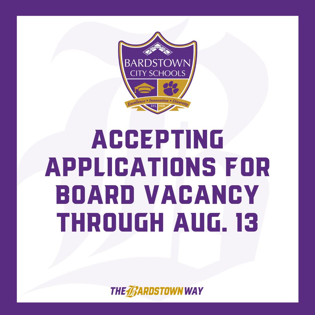 Notice of Board of Education Vacancy