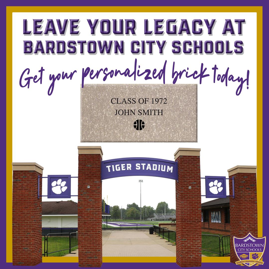 Tiger Stadium Personalized Brick Sale Graphic
