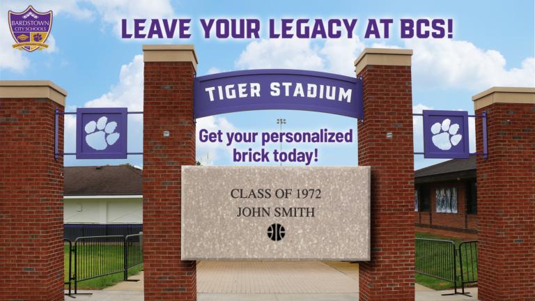 Tiger Stadium Personalized Bricks Graphic