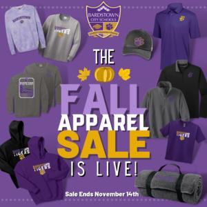 Fall Apparel Sale 2021 graphic