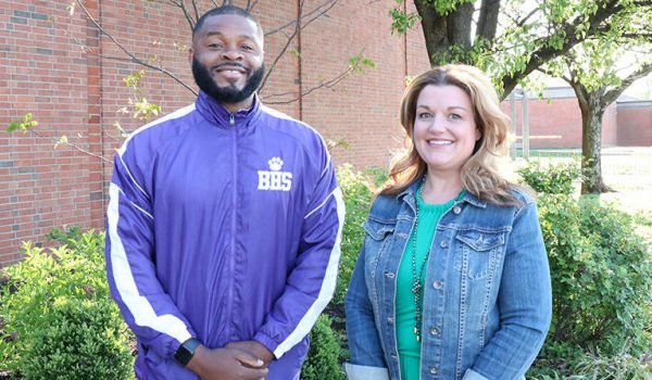 Josh Payne, Youth Services Director, and Catherine Jean-Baptiste, Family Resource Director.